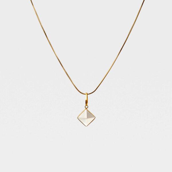 Monile pendente Merkaba in argento dorato - 5068