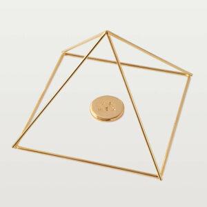 Piramide fissa modello Cheope dorata