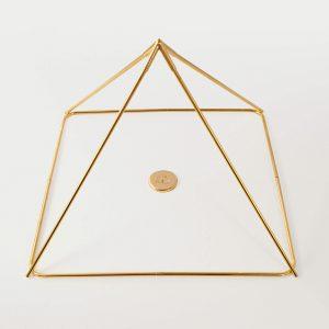 Piramide smontabile modello Cheope – dorata